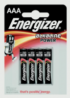 Eveready Energizer Alkaline Power AAA E91 - Pack 4